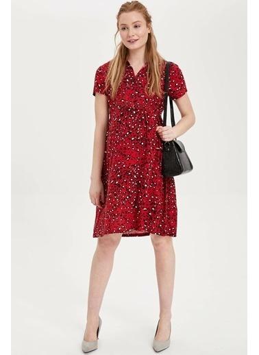 DeFacto Emzirme Özellikli Hamile Elbise Kırmızı